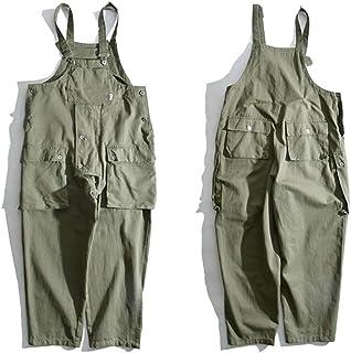 keepmore Men's Hip hop Vintage Bib Overalls Dungarees Jumpsuits Baggy Dad Pants