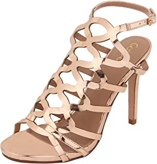 Catwalk Women's Metallic Cut Out Stilettos