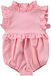 Moolia Infant Baby Girl Clothes Lightweight One-Piece Summer Ruffles Romper Outfits