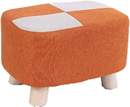 Comfortable Sofa Stool Household Cotton and Linen Small Square Stool Simple Creative Living Room Small Bench Lazy Shoes Pr...