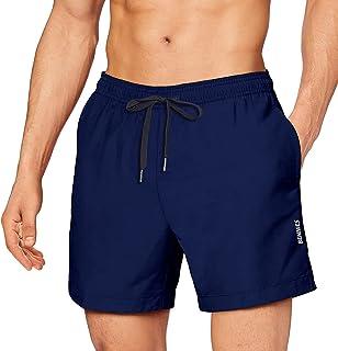 Costumi da Bagno Uomo, Pantaloncini da Bagno Costume da Bagno Pantaloncini Corti da Bagno Vita Elastica Regolabile Couliss...