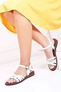 TARÇIN Hakiki Deri Günlük Kadın Sandalet Ayakkabı TRC61-0013