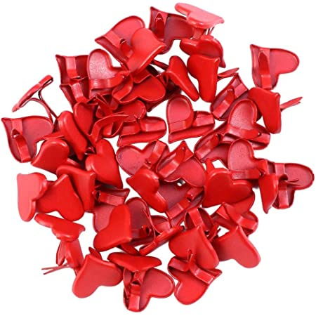 Baoblaze 200 Pieces of Mini Paper Heart Brads Accessories for Making DIY Crafts