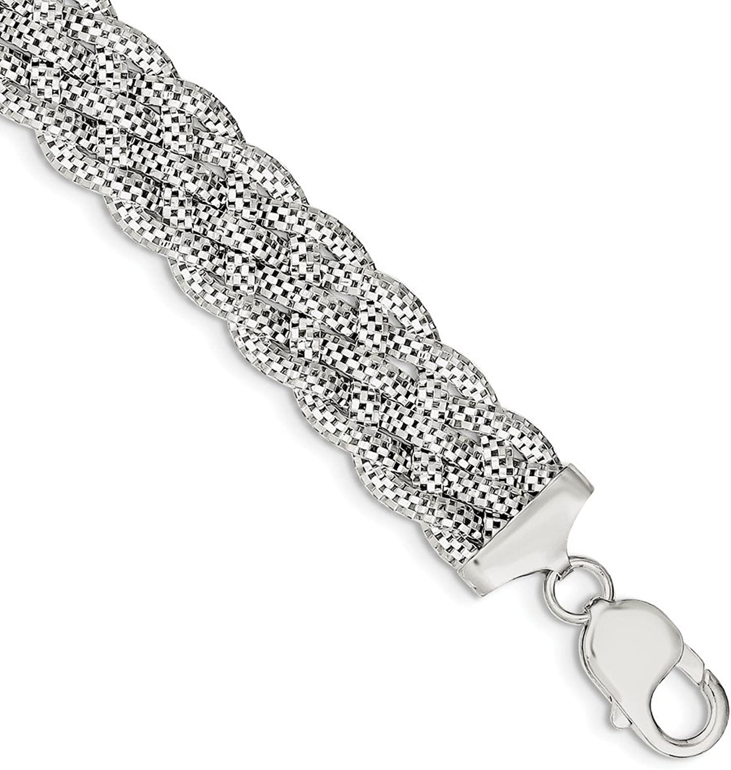 Beautiful Sterling silver 925 sterling Sterling Silver Braided Bracelet