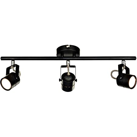 Karmiqi LED Ceiling Spotlights Black Adjustable Flush Mount Fixture Industrial Rotatable Heads Wall Accent Lamp GU10 Bulbs Included for Kitchen Gallery Hallway Workroom