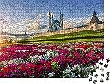 Un montón de Flores en El Kremlin de Kazán en La Noche de los Rayos Rompecabezas para Adultos 1000 Pieza,Madera Rompecabezas de la Familia de que el Juego de la Colección de Juego Educativo de Arte p