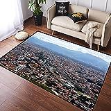 VINISATH Alfombra Salon Grandes Pelo Corto Escena de la Ciudad de Cochabamba,Bolivia Suave Antideslizante Alfombras Dormitorio Modernas Lavables para Sala Habitación Infantil 100x120cm