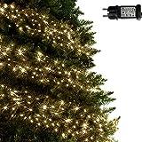 ANSIO Luces de racimo Luces de árbol blancas cálidas de 720 LED...