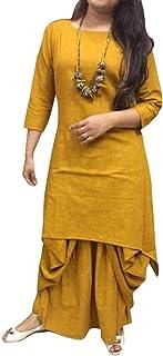 FEMEZONE Dhoti kurta Set for women (Musturd Yellow)