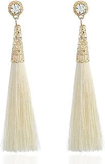 HENGSONG Fashion Elegant Bohemian Stud Eardrop Dangle Tassel Earring Ear Clip for Women Ladies