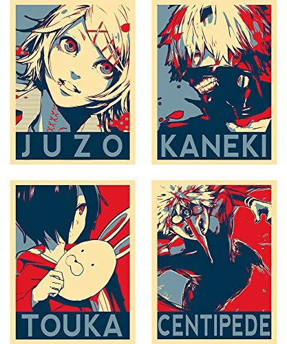 Instabuy Set de 4 Mini Poster - Propaganda - Tokyo Ghoul