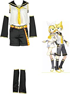 Vocaloid 02 Kagamine Rin Cosplay Costume for Women Full Set