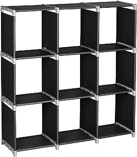 Alightup Armoire de Rangement, Meuble de Rangement Modulable, 9 Cubes Ouverts DIY, 32 x 29 x 33cm, Étagère de Rangement Po...