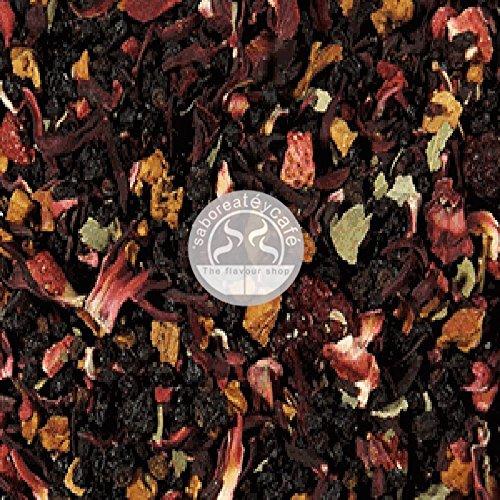 SABOREATE Y CAFE THE FLAVOUR SHOP Infusión Natural A Granel Mezcla Frutas Rojas de la Abuela 1 Kg