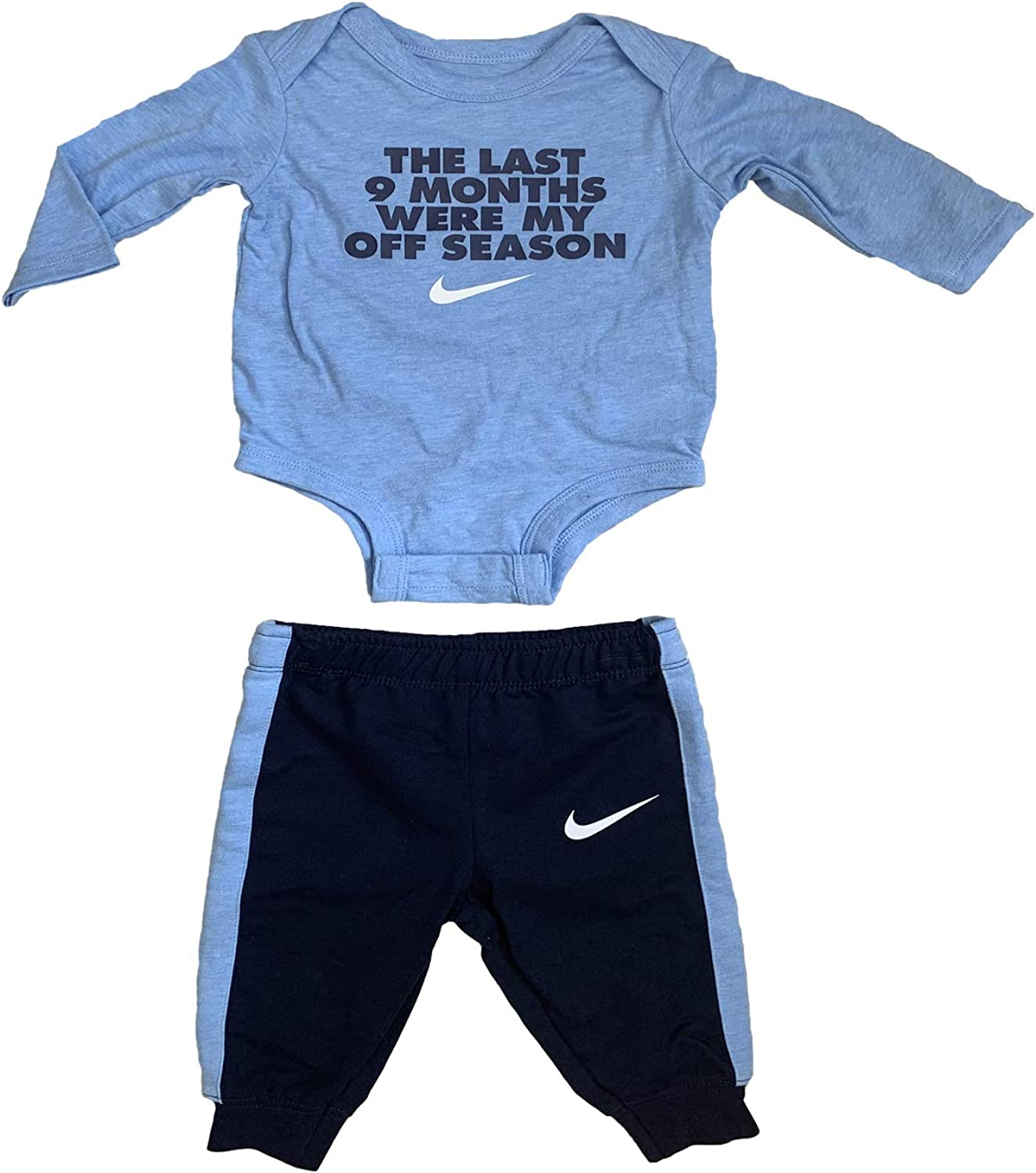 Amazon Com Nike Bodysuit Pants 2 Pieces Clothing Set For Infant Newborn Baby Boys 2020 Clothing