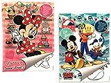 """2x DISNEY Malblock & Sticker Din A 4 – """"Minnie Mouse"""" und """"Mickey Mouse & Friends"""" – Malbuch mit Aufkleber"""