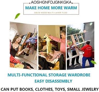 ZZF Combination Wardrobe Cloth Closet Wardrobe for Bedroom, Freestanding Hanging Rod Portable Freestanding Closet Storage Org