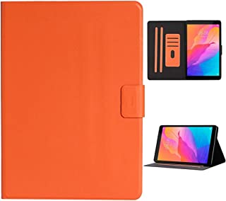 YPshell Case for for Huawei For for Huawei MediaPad T8 Solid Color Horizontal Flip Leather Case with Card Slots & Holder T...