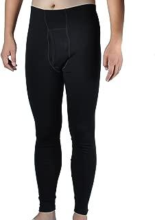 100% Merino Wool Men's Midweight Base Layer Thermal Underwear Bottoms Pants Long John