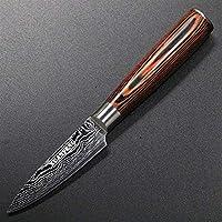 シェフのナイフ ダマスカスレーザーナイフ包丁設定された高品質の牛肉インナー野菜ナイフ日本人シェフナイフサンデナイフ (Color : Fruit knife)