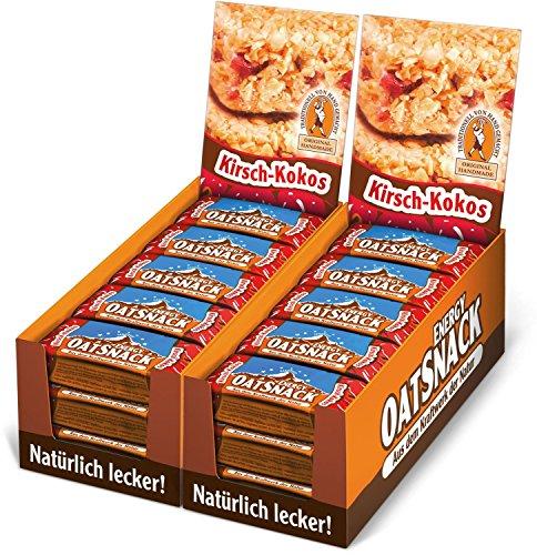Energy OatSnack, natürliche Riegel - von Hand gemacht, Kirsch-Kokos, 30 x 65 g, 1er Pack (1 x 1950 g)
