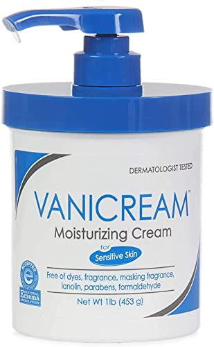 Vanicream Moisturizing Cream with Pump | Fragrance and Gluten Free | For Sensitive Skin | Soothes Red, Irritated, Cra...