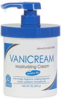 Vanicream Moisturizing Cream with Pump | Fragrance and Gluten Free | For Sensitive Skin | Soothes Red, Irritated, Cracked or Itchy Skin | Dermatologist Tested | 16 Ounce | Packaging May Vary