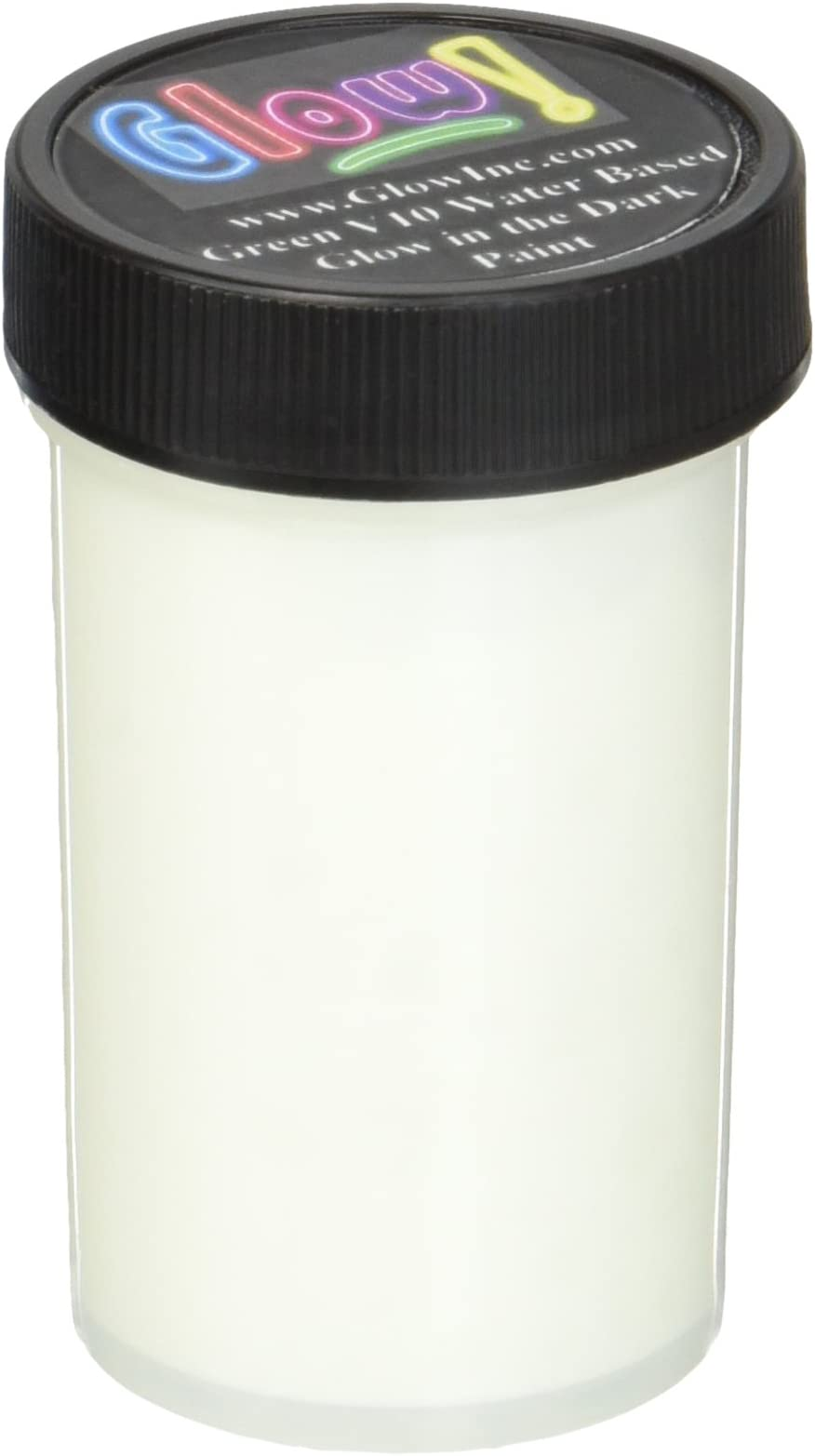 Ultra-green water based glow in the dark paint by Glow Inc 2 oz