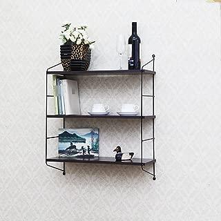 LXYFMS Wall Shelf Wall Hanging Living Room Balcony Bedroom Decoration Frame Wall Hanging Shelf 76x60x23 5cm Shelf  color BLACK