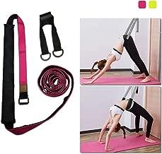 Stretchband Fitness Dehnband mit Griffen Schlaufen Gymnastik Pilates Yoga-Gurt