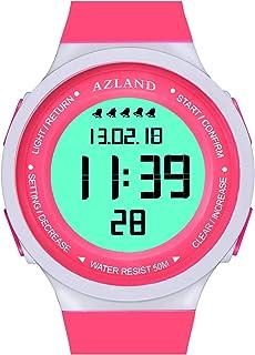 AZLAND 5 Multiple Alarms Waterproof Digital Kids Sports Watch for Childrens Boys Girls Teenagers Youth Wristwatch