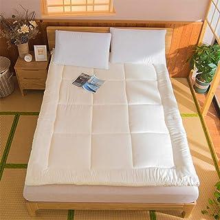 AOLI Colchón de suelo Colchón de futón, futón de tatami plegable transpirable, colchón de tatami grueso, colchón de dormir japonés doble, colchón de suelo de futón suave, colchón de suelo enrollable