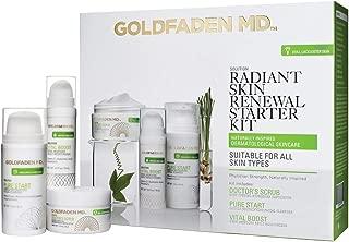 Radiant Skin Renewal Starter Kit - Complete Skin Care Regime including Exfoliator, Cleanser & Daily Moisturizer