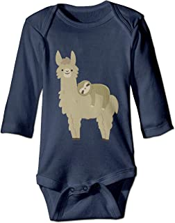 Sloth Relaxing On Llama Baby Bodysuit Fashion Onesie Soft Outfits