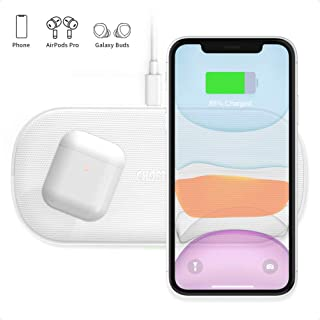CHOETECH Dual Wireless Charger, 5 Coils 7.5W Fast wireless Charging Pad Compatible with iPhone SE/11/11 Pro/11 Pro Max/XR/XS Max/XS/X/8 Plus, 10W for Samsung Galaxy S20/S20+/S10/S9, Note 10/9 and More
