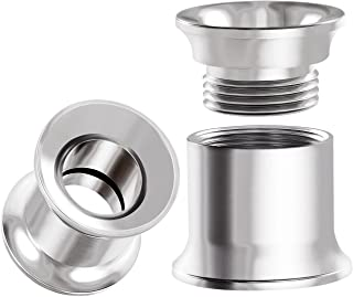 BIG GAUGES Pair of Internal Screw 316L Surgical Steel Double Flared Saddle Piercing Jewelry Stretcher Ear Plug Earring Lobe Flesh Tunnel