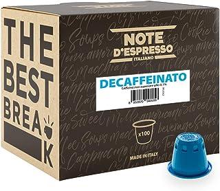 comprar comparacion Note D'Espresso Cápsulas de Café Descafeinado exclusivamente compatibles con afeteras Nespresso* - 100 Unidades de 5.6g, ...