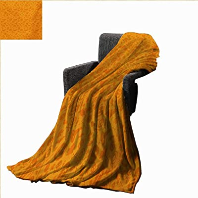Anyangeight Halloween Throw Blanket Monochrome Design with Traditional Halloween Themed Various Objects Pumpkin Bat Print,Super Soft and Comfortable,Suitable for Sofas,Chairs,beds