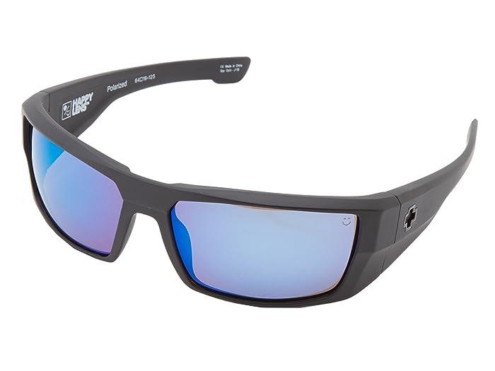 Spy Optic Dirk (Matte Black/Happy Bronze Polar w/ Blue Spectra) Sport Sunglasses