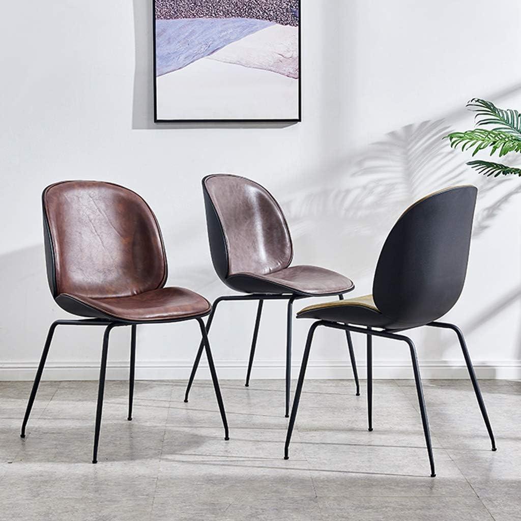 Chaise WGZ de Salle, de Bureau Simple, créative Dossier, Loisirs, Maison Adulte de Salle Simple (Color : Black-B) Black-b
