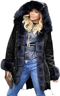 66de5daa985eb9 Amazon.fr : manteau fausse fourrure femme : Vêtements
