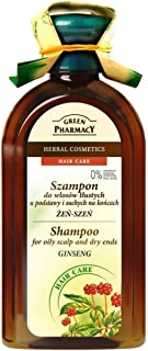 GREEN PHARMACY CHAMPU FOR OILY SCALP AND DRY END GINSENG 350ML