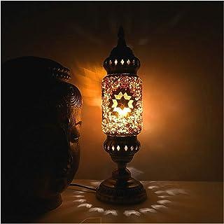 ZZL Lampe de Table Vintage Vintage Thai Style Table Lampe Handicaft,Lampes de Chevet en métal de Nuit rétro pour Chambre à...