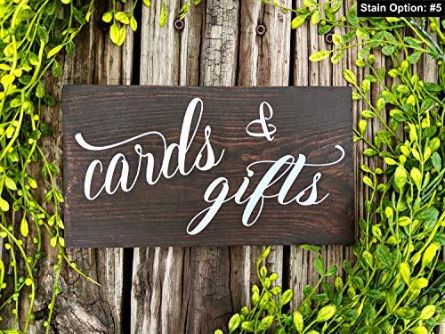 Yilooom Hochzeitskarten und Geschenk-Schild. Tischdekoration für Hochzeiten. Hochzeitsempfang. Karte und Geschenk. Rustikale Hochzeitsdekoration. Geschenktischschild