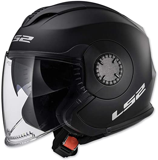 Glossy White - X-Small LS2 Helmets Open Face Verso Helmet