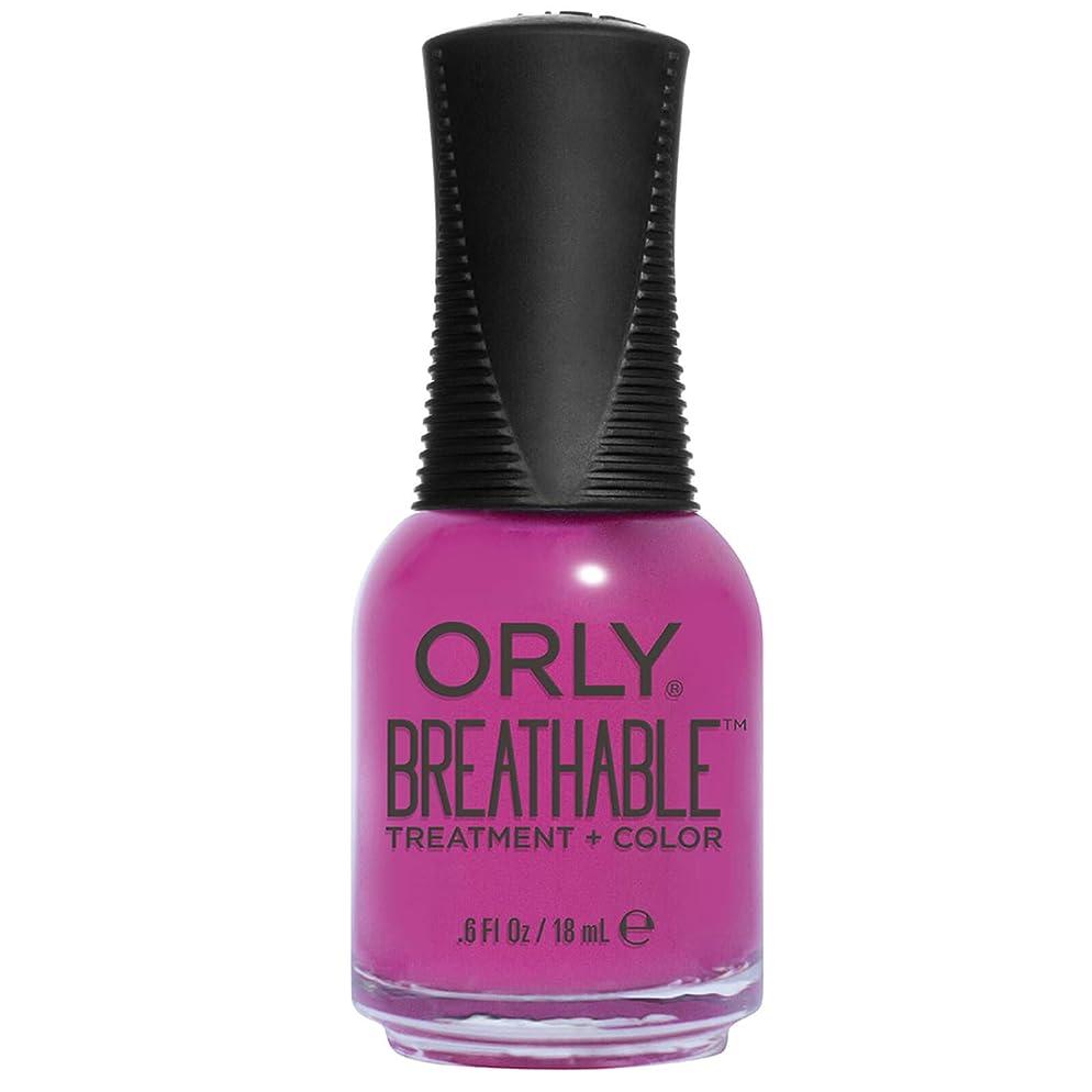 踏み台アマチュア農民Orly Breathable Treatment + Color Nail Lacquer - Give Me a Break - 0.6oz/18ml