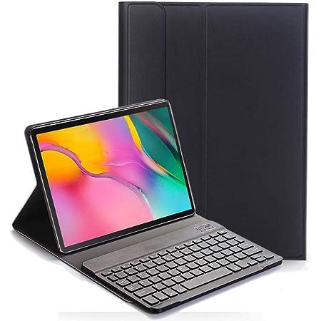RLTech Teclado Funda para Samsung Galaxy Tab A 10.1 2019, (QWERTY English) Teclado Wireless Keyboard Case con Magnético Desmontable para Samsung ...