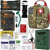 "9. EVERLIT Emergency Trauma Kit GEN-II Mil-Spec Nylon Laser Cut Pouch with Aluminum Tourniquet 36"" Splint, Military Combat Tactical IFAK for First Aid Response Bleeding Control (GEN-2 Multicam)"