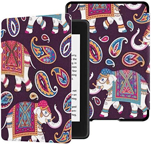 Völlig Neue wasserfeste Kindle Paperwhite-Stoffhülle (10. Generation, Version 2018), indische Verzierung Elefantenhose Paisleys auf Tablet-Hülle