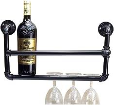HTTJJ Hanging Wine Rack Wall-Mounted Wine Rack Wine Bottle Holder Wine Bar Contemporary-Wine Rack Wall-Mounted Wine Bottle...